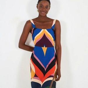 NWT Farm Rio Graphic Heart Slip Dress